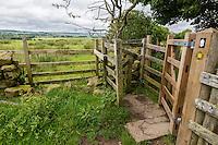 Hadrian's Wall Footpath, Kissing Gate.  Cumbria, England, UK.