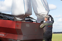 26-3-2021 Bags of Ammonium Nitrate  being loaded into a spreader <br /> ©Tim Scrivener Photographer 07850 303986<br />      ....Covering Agriculture In The UK....