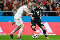 Spain's Daniel Carvajal (l) and Argentina's Ever Banega during international friendly match. March 27,2018.(ALTERPHOTOS/Acero) /NortePhoto.com NORTEPHOTOMEXICO