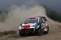 21st May 2021, Arganil, Portugal. WRC Rally of Portugal;  Kalle Rovenpera-Toyota Yaris WRC