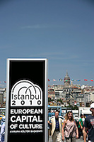 Istanbul European Capital of Culture 2010: Eminonu with the Galata Tower in the background