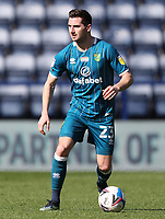 2nd April 2021; Deepdale Stadium, Preston, Lancashire, England; English Football League Championship Football, Preston North End versus Norwich City; Kenny McLean of Norwich City looks up before passing the ball