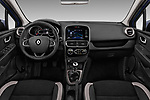 Stock photo of straight dashboard view of 2017 Renault Clio Intnse 5 Door Wagon Dashboard