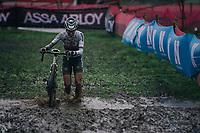 cx world champion Ceylin del Carmen Alvarado (NED/Alpecin-Fenix) plowing through the mud<br /> <br /> UCI cyclo-cross World Cup Dendermonde 2020 (BEL)<br /> Women's Race<br /> <br /> ©kramon