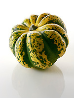 Harlequin Squash on a white background