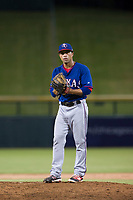 AZL Rangers relief pitcher Xavier Paul (60) prepares to deliver a pitch to the plate against the AZL Cubs on July 24, 2017 at Sloan Park in Mesa, Arizona. AZL Cubs defeated the AZL Rangers 2-1. (Zachary Lucy/Four Seam Images)