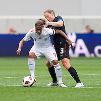 Christie Rampone, Maribel Dominguez. The USWNT defeated Mexico, 1-0, during the game at Red Bull Arena in Harrison, NJ.