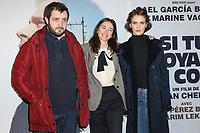 """KARIM LEKLOU, JOAN CHEMLA (REALISATEUR), MARINE VACTH - AVANT-PREMIERE DU FILM """"SI TU VOYAIS SON COEUR"""" A L'UGC CINE CITE LES HALLES A PARIS, FRANCE, LE 08/01/2018."""