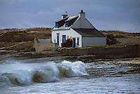 Europe/France/Bretagne/56/Morbihan/Quiberon: Vieille maison au bord de la mer