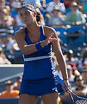 Madison Keys (USA) loses to Aleksandra Krunic (SRB) 7-6, 2-6, 7-5 at the US Open being played at USTA Billie Jean King National Tennis Center in Flushing, NY on August 28, 2014