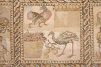 Tripoli, Libya - Roman Mosaic from Leptis Magna, Jamahiriyya Museum, Four Seasons
