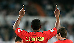 Mallorca's Cleber Santana celebrates during La Liga match. May 24, 2009. (ALTERPHOTOS/Alvaro Hernandez)