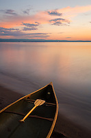 """""""Superior Paddle""""<br /> The Great Lake Superior is often unfriendly to canoes and kayaks and even larger vessels. However, she can also paint a paddling paradise on a peaceful summer morning.<br /> <br /> This photograph is from our Canoescapes Series."""