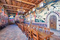 Great Dining Hall. Castello di Amorosa. Napa Valley, California. Property relased