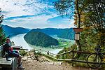 Oesterreich, Oberoesterreich, Haibach ob der Donau, Ortsteil Schloegen: Die Schloegener Schlinge zwischen Passau und Linz | Austria, Upper Austria, Haibach ob der Donau, district Schloegen: horseshoe bend 'Schloegener Schlinge' between Passau and Linz