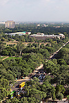 June 21 2012, New Delhi, India:  An aerial view of New Delhi showing the city's main artery , Janpath, stretching through the greenery towards the Taj Mahal hotel.        Picture by Graham Crouch/Holland Herald