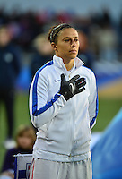 Lorient, France. - Sunday, February 8, 2015: Carli Lloyd (10)of the USWNT. France defeated the USWNT 2-0 during an international friendly at the Stade du Moustoir.