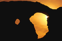 Window rock at sunset in Arches National Park