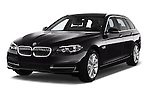Front three quarter view of a 2013 BMW 5 Series Touring