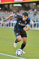 San Jose, CA - Wednesday June 28, 2017: Shea Salinas during a U.S. Open Cup Round of 16 match between the San Jose Earthquakes and the Seattle Sounders FC at Avaya Stadium.