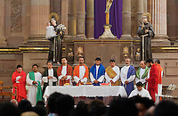 PRIEST & the 12 Apostles during Easter Service in TEMPLO DE SAN FRANCISCO - SAN MIGUEL DE ALLENDE, MEXICO ...