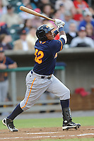 Montgomery Biscuits Daniel Mayora #32 swings at a pitch during a game against  the Tennessee Smokies at Smokies Park in Kodak,  Tennessee;  April 13, 2011.  Tennessee defeated Montgomery 12-2.  Photo By Tony Farlow/Four Seam Images