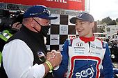 #10: Alex Palou, Chip Ganassi Racing Honda, podium