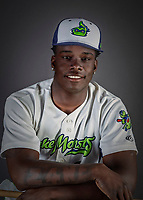 11 June 2019: Vermont Lake Monsters infielder Lawrence Butler poses for a portrait on Photo Day at Centennial Field in Burlington, Vermont. The Lake Monsters are the Single-A minor league affiliate of the Oakland Athletics and play a short season in the NY Penn League Stedler Division. Mandatory Credit: Ed Wolfstein Photo *** RAW (NEF) Image File Available ***