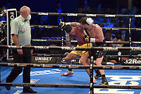 Chris Bourke (black shorts) defeats James Beech Jnr during a Boxing Show at the SSE Arena on 24th July 2021