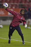 USA women's national team goalkeeper Briana Scurry during warmups. The United States (USA) defeated Nigeria (NGA), 1-0 during their Group B first round game at Hongkou Stadium in Shanghai, China on September 18, 2007.