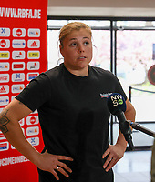 Belgium's goalkeeper Justien Odeurs pictured during an interview at after the qualifying group stage draw for FIFA Women's World Cup 2023, at Royal Belgian   . PHOTO: SPORTPIX.BE   SPP   SEVIL OKTEM