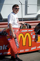 Jan. 1996; Chandler, AZ, USA; NHRA top fuel dragster driver Cory McClenathan during pre season testing at Firebird International Raceway. Mandatory Credit: Mark J. Rebilas-