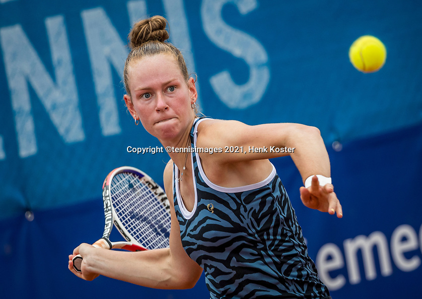 Amstelveen, Netherlands, 5  Juli, 2021, National Tennis Center, NTC, Amstelveen Womans Open,  Stephanie Judith Visscher (NEDº<br /> Photo: Henk Koster/tennisimages.com