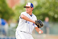 Starting pitcher Matt Moore #33 of the Durham Bulls in action against the Gwinnett Braves at Durham Bulls Athletic Park on July 27, 2011 in Durham, North Carolina.  The Bulls defeated the Braves 4-0.   (Brian Westerholt / Four Seam Images)