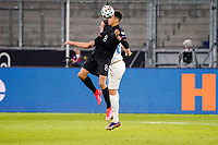 Jamal Musiala (Deutschland Germany) setzt sich im Zweikampf gegen Sverrir Ingason (Island Iceland) durch - 25.03.2021: WM-Qualifikationsspiel Deutschland gegen Island, Schauinsland Arena Duisburg
