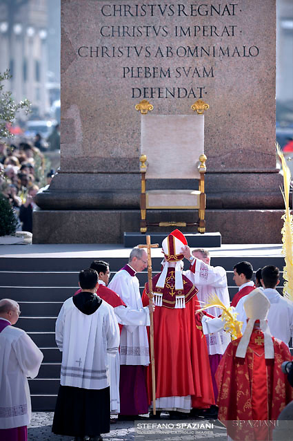 Pope Francis during of the Palm Sunday celebration on St Peter's square at the Vatican.March 24,2018