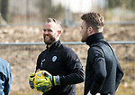 St Johnstone Training…07.04.17<br />Alan Mannus pictured during training this morning at McDiarmid Park ahead of tomorrow's trip to Inverness<br />Picture by Graeme Hart.<br />Copyright Perthshire Picture Agency<br />Tel: 01738 623350  Mobile: 07990 594431