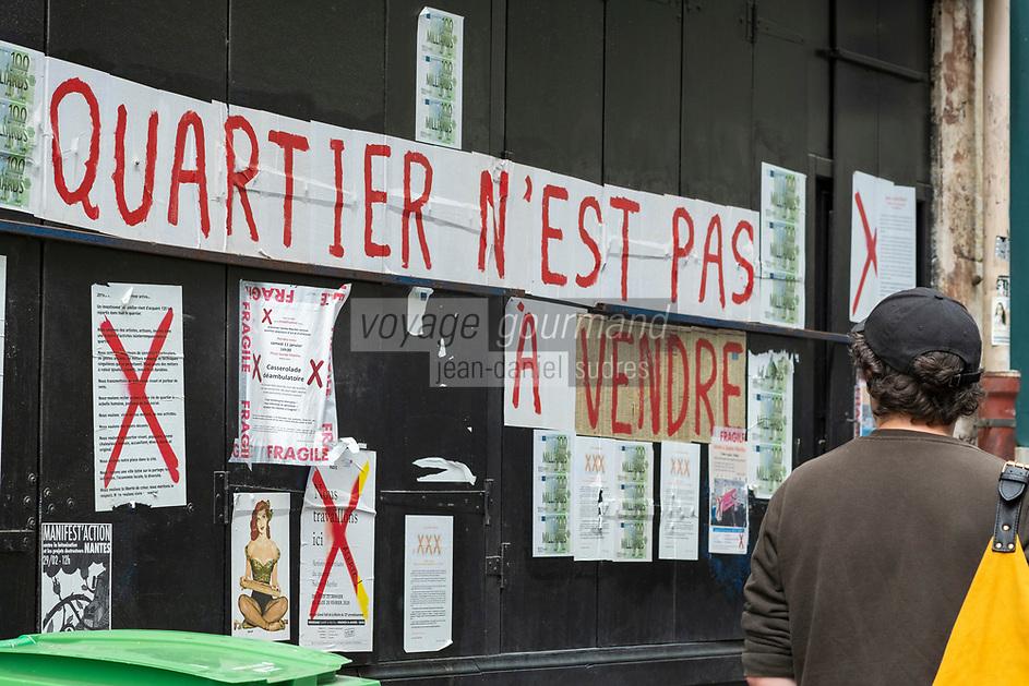 Europe/France/Ile de France/Paris 75011:  Quartier rue Sainte-Marthe - révolte contre la promotion immobilière  //  Europe / France / Ile de France / Paris 75011: Rue Sainte-Marthe district - revolt against property development