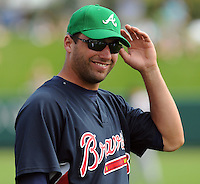 17 March 2009: Right fielder Jeff Francoeur of the Atlanta Braves prior to a game against the New York Meta at the Braves' Spring Training camp at Disney's Wide World of Sports in Lake Buena Vista, Fla. Photo by:  Tom Priddy/Four Seam Images