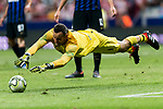 Goalkeeper Samir Handanovic of FC Internazionale in action during their International Champions Cup Europe 2018 match between Atletico de Madrid and FC Internazionale at Wanda Metropolitano on 11 August 2018, in Madrid, Spain. Photo by Diego Souto / Power Sport Images
