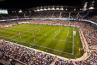 An overall view of the stadium. The women's national team of the United States defeated the Korea Republic 5-0 during an international friendly at Red Bull Arena in Harrison, NJ, on June 20, 2013.