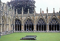 Canterbury: Canterbury Cathedral--Cloister.