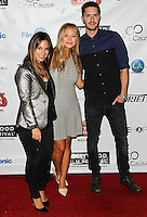 HOLLYWOOD, LOS ANGELES, CA, USA - OCTOBER 16: Sas Goldberg, Vanessa Ray, Jake Wilson arrive at the 2014 Hollywood Film Festival - Opening Night Gala held at ArcLight Hollywood on October 16, 2014 in Hollywood, Los Angles, California, United States. (Photo by Celebrity Monitor)