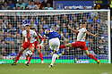 Ross Barkley of Everton shoots<br />  - Everton v Stevenage - Capital One Cup Second Round - Goodison Park, Liverpool - 28th August, 2013<br />  © Kevin Coleman 2013