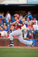 Hagerstown Suns catcher Jorge Tillero (11) at bat during a game against the Lexington Legends on May 22, 2015 at Whitaker Bank Ballpark in Lexington, Kentucky.  Lexington defeated Hagerstown 5-1.  (Mike Janes/Four Seam Images)