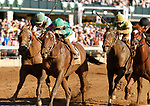 """October 04, 2019 : #8 Engage and jockey Jose Ortiz win the 167th running of the Stoll Keenon Ogden Phoenix Grade 3 $250,000 """"Win and You're In Breeders' Cup Sprint Division"""" for owner Woodford Racing and trainer Steven Asmussen at Keeneland Racecourse in Lexington, KY on October 04, 2019.  Candice Chavez/ESW/CSM"""
