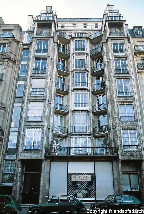 Auguste Perret: Franklin Apartments, Paris, 1902. 26 Rue Franklin.