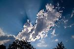 Clouds, Sun-rays, Wolken, Sonnenstrahlen, Schaan, Liechtenstein