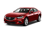 Front three quarter view of a <br /> 2014 Mazda Mazda6 i Touring Sedan