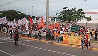 Small Demo near the Stadium before Kick Off